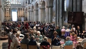 The Annual BIG Knit at Rochester cathedral