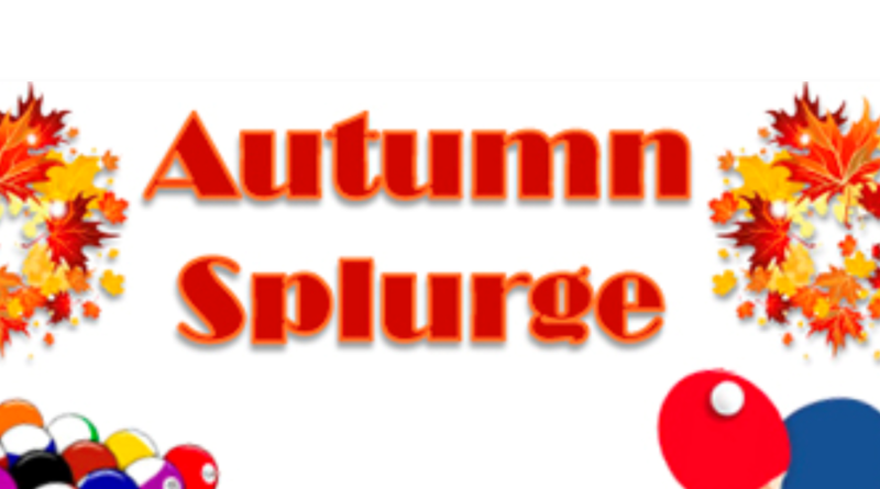 Autumn Splurge Fri 25th October 10-12 noon